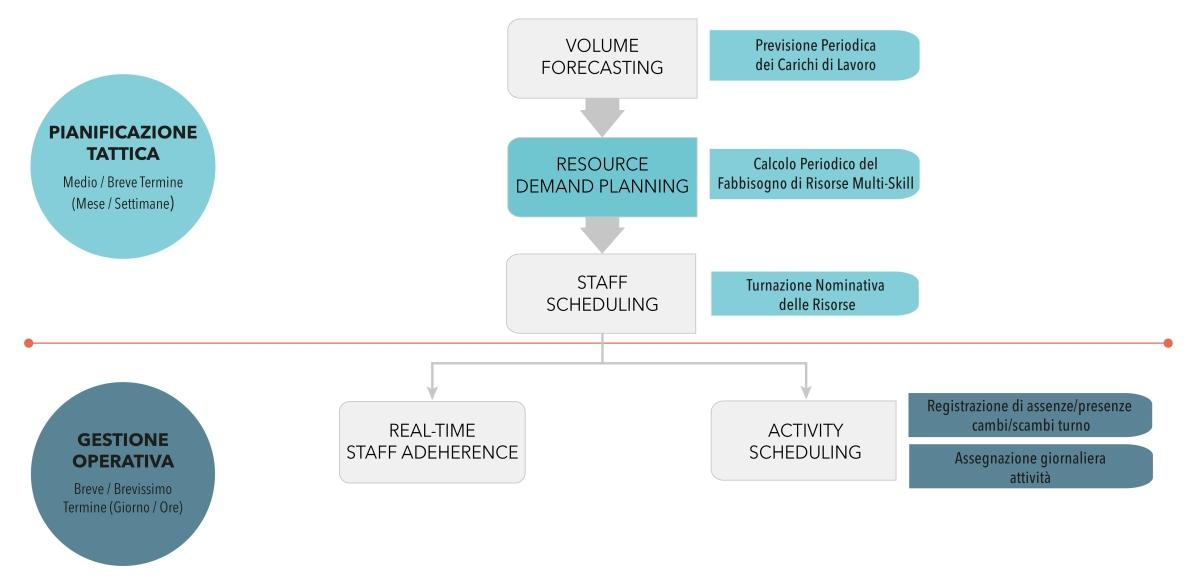 Software per il calcolo dei fabbisogni multiskill